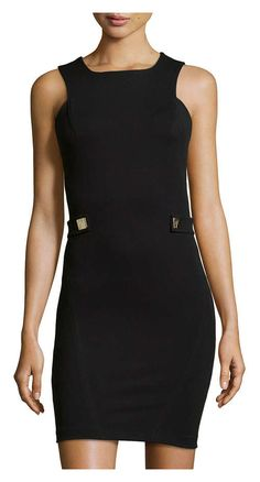 Versace Sleeveless Knit Dress With Side Tabs On 65 Off