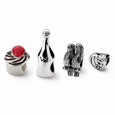 Jewelry Sets Bead Sets Sterling Silver Reflections Happy Birthday Boxed Bead Set