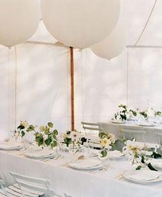 Wie wäre es mit riesigen Luftballons an der Decke?