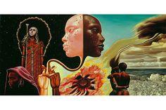 "Mati Klarwein ~ artist who drew the cover to Miles Davis' album ""Bitches Brew"""