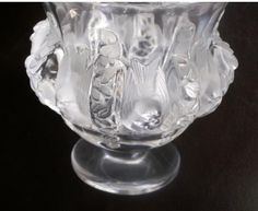 """Vintage LALIQUE """"Sparrow"""" Clear / Frosted Dampierre Art Glass from Melange-Art"""