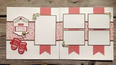 Scrapbook layout using Close To My Heart (CTMH) White Pines paper and Artistry Cricut Cartridge.