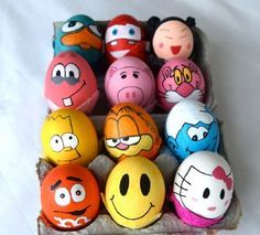 lustige Comic-Helde Filmhelde-Ostereier  dekorieren-ideen
