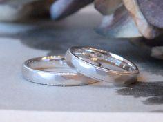 槌目とミルグレイン:結婚指輪 プラチナでおつくりしたリング  marriage,wedding,bridal,ring,Pt900,オーダーメイド,マリッジリング,イズ,ith