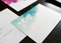 Oh So Beautiful Paper: Whimsical Watercolor and Calligraphy Wedding Invitations