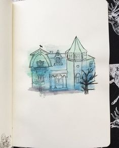 The spooky ooky house! Scary Houses, The Munsters, My Drawings, Day, Illustration, Illustrations