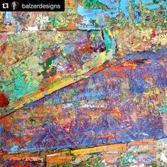 """Gelli tape goodness from @balzerdesigns ・・・ """"Cleaned off my #gelliplate and now I've got oodles of painty packing tape to play with! #whatjuliemade #gellitape #gelliprinting #gelliplate"""