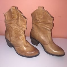 Cowgirl Boots NEVER WORN Aldo ankle cowgirl boots, very comfortable for long days ... Any questions please ask ☺️ ALDO Shoes Ankle Boots & Booties