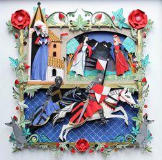 Les magnifiques créations en papier de l'artiste britanniqueHelen Musselwhite, basée àManchester. Des créations précises, subtiles et colorées en papi