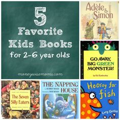 5 Favorite Kids Books for 2-6 year olds - Moneywise Moms