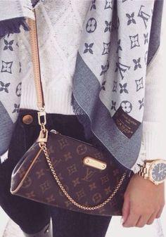 Louis Vuitton purse = ♡ Louis Vuitton cardigan = ♡♡ Louis Vuitton anything = ♡♡♡ . Louis Vuitton - purse - cardigan - anything - brown - caramel - gold - silver - live - love - life - accessories - watch - white - blue - navy - jeans - clothing - e Louis Vuitton Purses, Pochette Louis Vuitton, Vuitton Neverfull, Louis Vuitton Crossbody, Fashion Handbags, Purses And Handbags, Fashion Bags, Womens Fashion, Tote Handbags