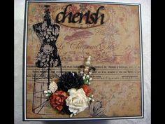 """Cherish"" Vintage Keepsake Scrapbook Photo Album - YouTube"