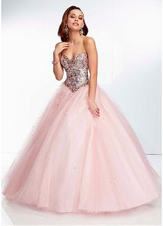 Gorgeous Tulle Sweetheart Neckline Floor-length Ball Gown Prom Dress