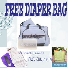 Free Diaper Bag or Eco Friendly tote!!!! Plus a Free Child Id Kit AT NO COST ===>