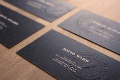 Ward & Associés - Business Card Design Inspiration | Card Nerd