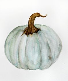 UOOPOO Blue-Gray Cinderella Pumpkin - Watercolor Home Decorative Halloween Throw Pillow Cover Square 16 x 16 Inches Cotton Canvas Wedding Pillow Case Happy Fall Cushion Cover for Sofa One Side Printed Pumpkin Pillows, Fall Pillows, Decorative Throw Pillows, Pink Pumpkins, Fall Pumpkins, Painted Pumpkins, Fabric Pumpkins, Grey Pumpkin, Pumpkin Art