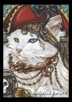 Pirate Cat 1 Signed 5x7 Art Print by natamon on Etsy, $7.00