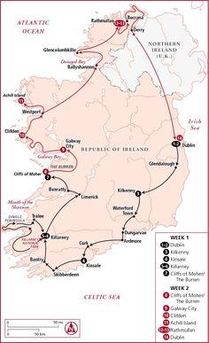 Ireland in 1-2 weeks