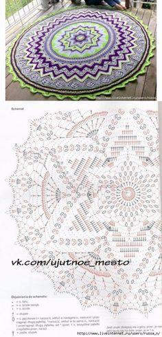 """Round rug """"Mandala""""."""
