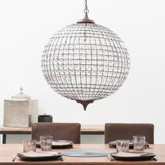 Lámpara de techo bola de metal de color oxidado con lágrimas Finon | Maisons du Monde