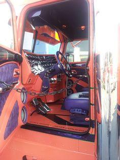 GBATS 2014 Joplin MO Diesel Style, Diesel Fashion, Mobile Office, Custom Big Rigs, Show Trucks, Truck Interior, Peterbilt Trucks, Truck Design, Man Caves