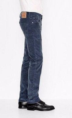 LEVIS 511 mens Corduroy pants CORDS SLIM FIT STRETCH style 045111768 BLUE