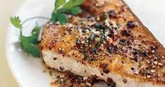 Seared Swordfish with a Lemon and Wine Rosemary Sauce - Simple Comfort Food Steak Recipes, Seafood Recipes, Cooking Recipes, Healthy Recipes, Epicurious Recipes, Healthy Meals, Grilled Swordfish, Swordfish Recipes Pan Seared, Butter Recipe