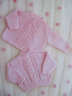 Vintage Baby Knitting Pattern Matinee Coat by lovevintagecrafts #knitting #babyknittingpatterns #vintageknitting