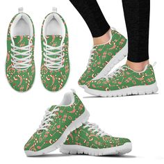 Now selling: Womens Sneakes. Chrismtas Candy Music Shoes http://oompah.shop/products/womens-sneakes-chrismtas-candy-music-shoes