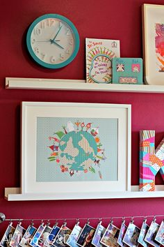 Inspiration for an Eclectic Girls Room...Ikea ribba picture ledges
