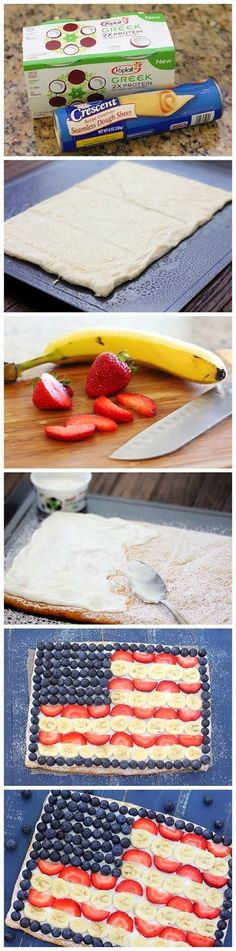 How To Fruit Flag Pizza
