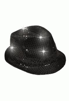 01f14aee483 Hat   LED Sequin Fedora Costume Hat
