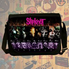 NEW HOT!!! Slipknot Messenger Bag, Laptop Bag, School Bag, Sling Bag for Gifts & Fans #02