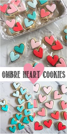 black-outlined ombre heart cookies from (Ombre Cake Frosting) Valentine's Day Sugar Cookies, Fancy Cookies, Heart Cookies, Iced Cookies, Cute Cookies, Valentines Day Desserts, Valentine Cookies, Birthday Cookies, Easter Cookies