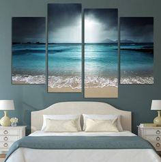 Beautiful Sea Canvas 4 Pcs Wall Art