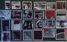 Elise Salo: Suomi 100-vuotta teemaan liittyen tutustuttiin Akseli Gallen-Kallelan teoksiin 5.-6. luokkalaisten kanssa. Niistä oppilaat toteuttivat osajäljennökset, joissa alkuperäiset värit muutettiin väriskaalalle (punainen, musta, harmaa ja valkoinen).
