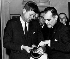 Pres. John F. Kennedy & Father Hesburgh