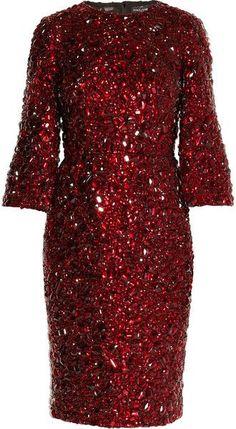 7ed9e8ebdee444 Dolce   Gabbana Red Crystal Embellished Dress Crystal Dress