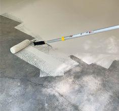 How to Epoxy Coat a Garage Floor - Plank and Pillow Epoxy Garage Floor Paint, Garage Floor Coatings, Epoxy Floor, Bedroom Decorating Tips, Garage Interior, Home Office Setup, Epoxy Coating, Garage Makeover, Plank Flooring