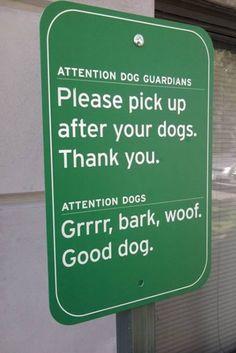 12 Hilarious Dog Signs - Oddee.com