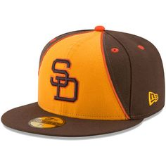 San Diego Padres New Era 1983 Turn Back the Clock 59FIFTY Fitted Hat - Gold/Brown
