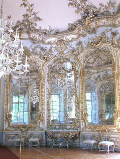 Francois Cuvilliers, Hall of Mirrors, Amalienburg, Nymphenburg Palace