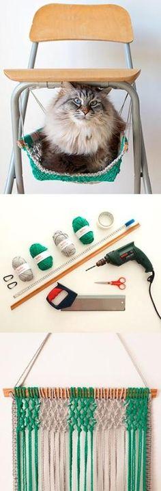 DIY Macrame cat hammock by maritza