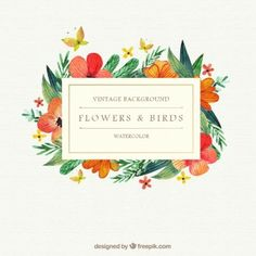 Graphic Design Ideas  Check Out Bundle Watercolor Florals By