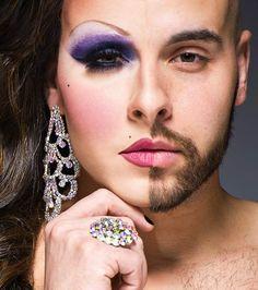 Les travestis burlesques avant et après maquillage par le photographe Leland Bobbe via Ufunk