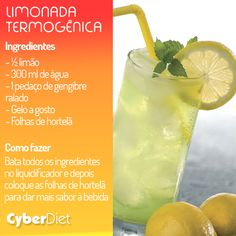 Limonada termogênica! Aposte no suco de limão com gengibre e queime as calorias! Gostou da dica? Veja outras combinações que vão te ajudar a emagrecer aqui http://boaforma10.com                                                                                                                                                      Mais