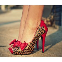 Red Cheetah Heels lesterdawn