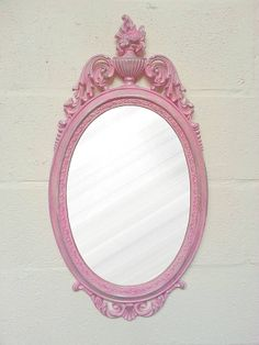 Shabby Chic Vintage Pink Mirror By Green In Mind