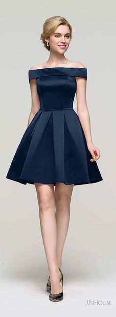 Navy Blue prom dress is beautiful silk, perfect for homecoming, party, any special event! #prom