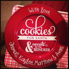 Christmas charger cookie plate